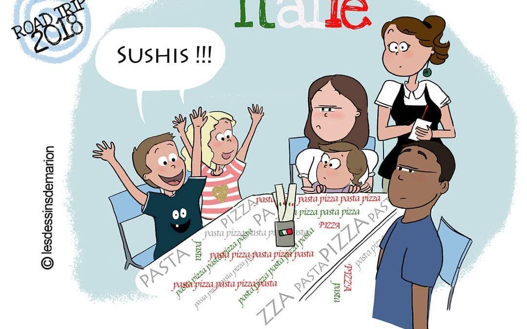 Illustrations humoristiques: quand une famille expat part en vacances